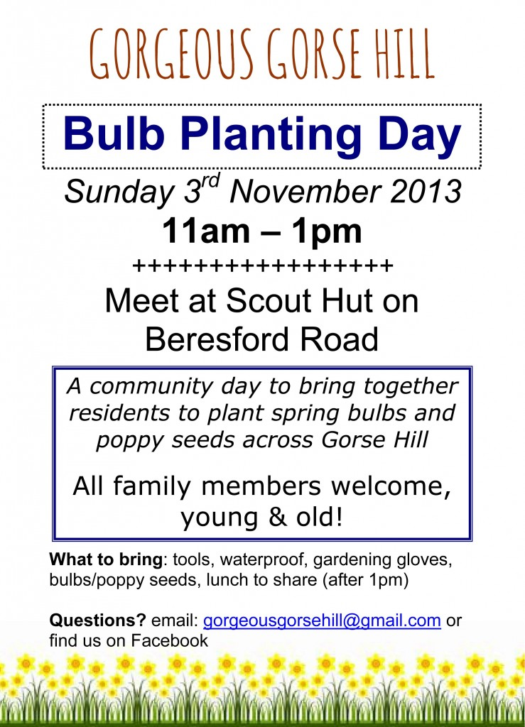 Microsoft Word - Bulb Planting Day, Nov 3rd 2013.doc